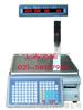 【电子秤】立杆联网条码打印秤,30公斤打印秤
